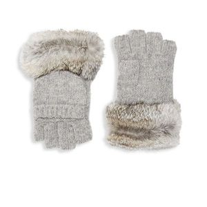 Winter Glove with Fur Trim